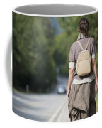 Walking On The Road Coffee Mug