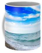 Walking The Shore - Extended Coffee Mug by Steven Santamour