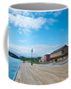 Walkway Along The Yukon River In Whitehorse-yk  Coffee Mug