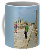 Walkway To Harbor In Ephesus-turkey Coffee Mug