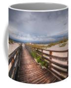Walkway To The Beach At Romar Access Coffee Mug