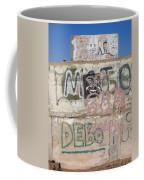 Wall Art Graffiti Concrete Walls Casa Grande Arizona 2004 Coffee Mug
