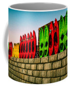 Wall Of Kayaks Coffee Mug