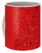 Wall Of Red Roses Coffee Mug