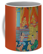 Wall Painting 2 In Wat Po In Bangkok-thailand Coffee Mug