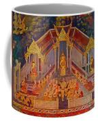 Wall Painting 3 At Wat Suthat In Bangkok-thailand Coffee Mug
