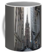 Wall Street Leading To Trinity Church Coffee Mug