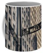 Wall Street Sign Coffee Mug