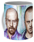 Walter And Jesse - Breaking Bad Coffee Mug by Olga Shvartsur