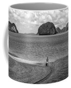 Wandering In Paradise Monochrome Coffee Mug