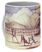 War Dance, Illustration From The Albert Nyanza Great Basin Of The Nile By Sir Samuel Baker, 1866 Wc Coffee Mug