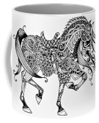 War Horse - Zentangle Coffee Mug
