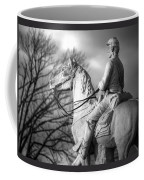 War Horses - 8th Pennsylvania Cavalry Regiment Pleasonton Avenue Sunset Autumn Gettysburg Coffee Mug by Michael Mazaika