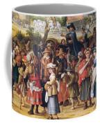 War Scene Oil On Panel Detail Of 242453 Coffee Mug