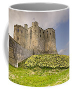 Warkworth Castle With  Daffodils Coffee Mug