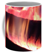 Warm Glowing Fire Log Coffee Mug