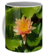 Warm Yellows Oranges And Corals - A Waterlily Impression Coffee Mug