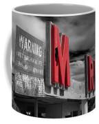 Warning M Rine Black And White Coffee Mug