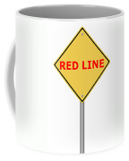 Warning Sign Red Line Coffee Mug