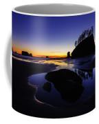 Washington Coast Sunset Pool Of Radiance Coffee Mug
