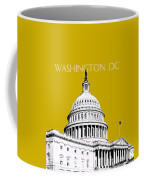 Washington Dc Skyline The Capital Building - Gold Coffee Mug