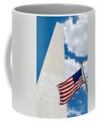 Washington Monument And Flag Coffee Mug