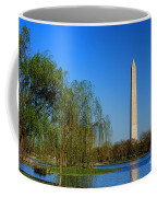 Washington Monument From Constitution Gardens Pond Coffee Mug by Olivier Le Queinec