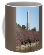 Washington Monument Reflected In Tidal Basin And Surrounded By P Coffee Mug
