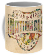 Washington Nationals Poster Art Coffee Mug