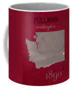 Washington State University Cougars Pullman College Town State Map Poster Series No 123 Coffee Mug