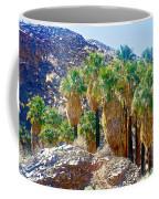 Washingtonian Fan Palm Grove Along Lower Palm Canyon Trail Near Palm Springs-california  Coffee Mug