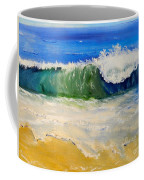 Watching The Wave As Come On The Beach Coffee Mug by Pamela  Meredith