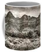 Watchman Trail In Sepia - Zion Coffee Mug