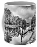 Water Bus Stop Bute Park Cardiff Mono Coffee Mug