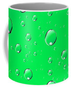 Water Drops On Green Coffee Mug