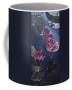 Water Lilies At Sunset Coffee Mug