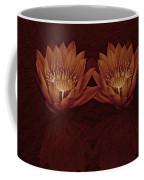 Water Lilies In Deep Sepia Coffee Mug