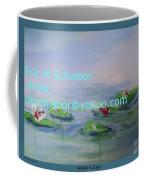 Water Lilies Print Coffee Mug