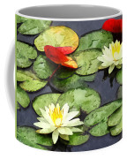 Water Lily Pond In Autumn Coffee Mug