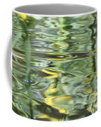 Water Reflection Green And Yellow Coffee Mug by Dan Sproul