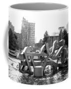 Water Sculpture In Spokane Coffee Mug by Carol Groenen