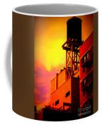 Water Tower With Orange Sunset Coffee Mug