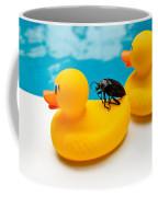 Waterbug Takes Yellow Taxi Coffee Mug