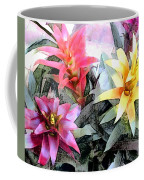 Watercolor And Ink Sketch Of Colorful Bromeliads Coffee Mug