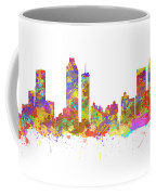 Watercolor Art Print Of The Skyline Of Atlanta Georgia Usa Coffee Mug