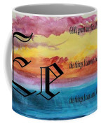 Watercolor E And Serenity Prayer Coffee Mug