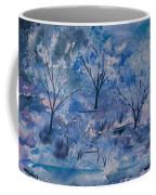 Watercolor - Icy Winter Landscape Coffee Mug
