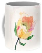 Watercolor Illustration With Beautiful Flower  Coffee Mug