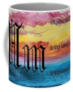 Watercolor M And Serenity Prayer Coffee Mug
