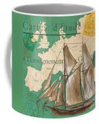 Watercolor Map 1 Coffee Mug by Debbie DeWitt